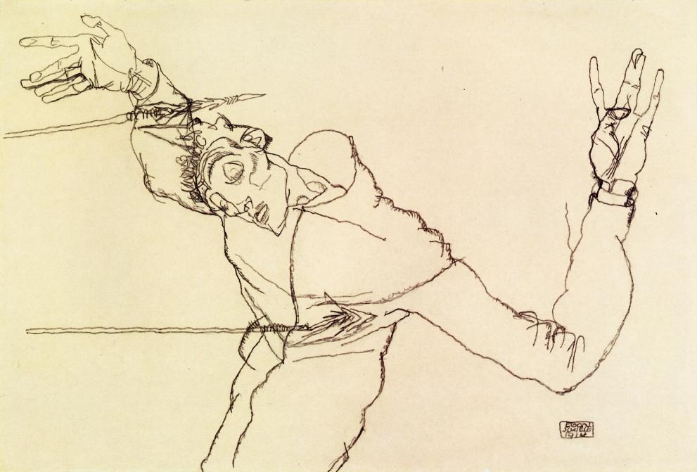 13-Эгон Шиле - Автопортрет в образе святого Себастьяна - 1914.jpg