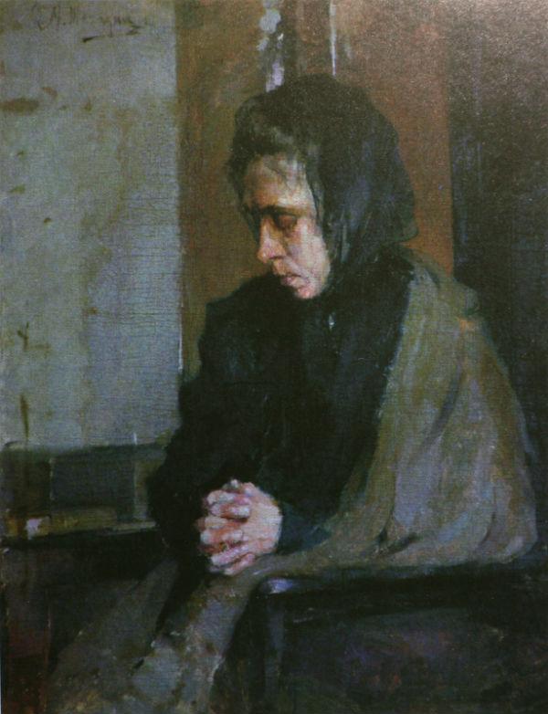 2-Михаил Фёдорович Шемякин - Женщина в чёрной косынке - 1896.jpg