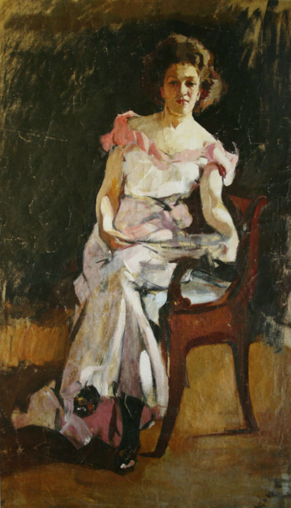 4-Михаил Фёдорович Шемякин - Портрет женщины в розовом - 1907.jpg