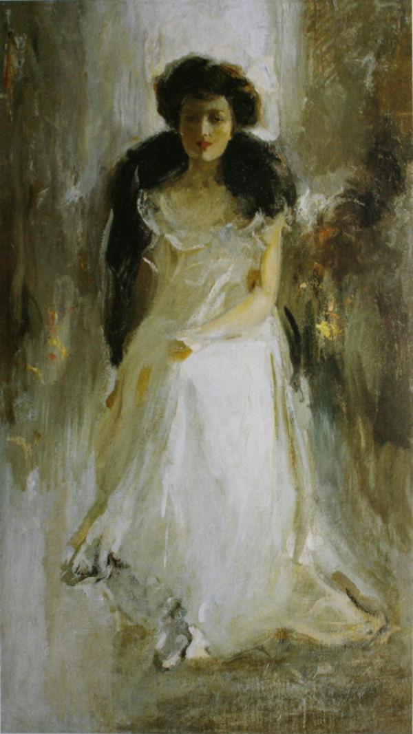 6-Михаил Фёдорович Шемякин - Дама в светлом Портрет А И Егоровой  - 1908.jpg