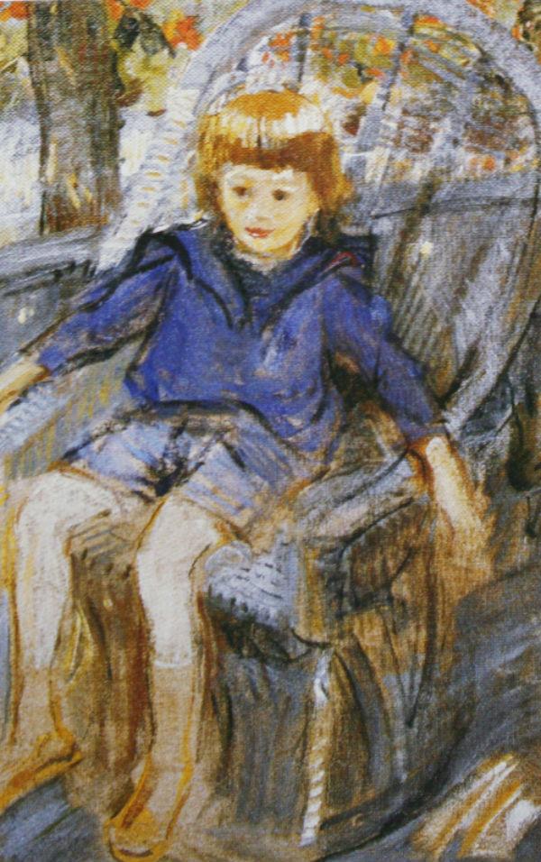 13-Михаил Фёдорович Шемякин - Портрет Феди в кресле - 1919.jpg