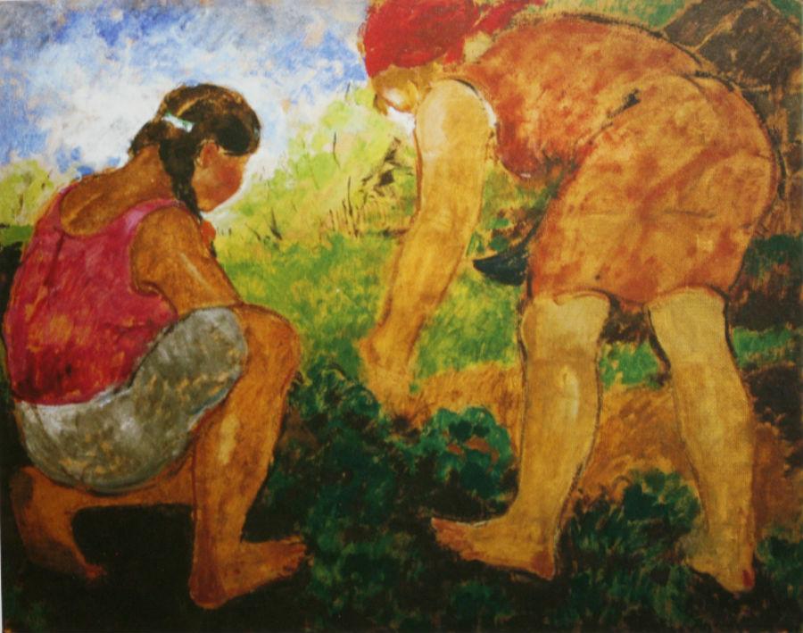 14-Михаил Фёдорович Шемякин - Две женщины (В огороде) - 1920-е годы.jpg