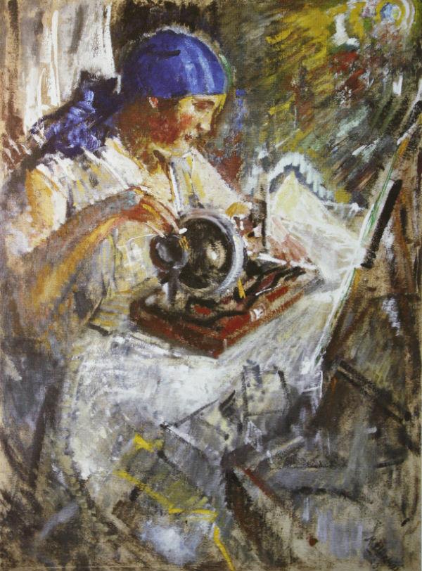 17-Михаил Фёдорович Шемякин - Швея Портрет М Ф Шемякиной - 1930.jpg
