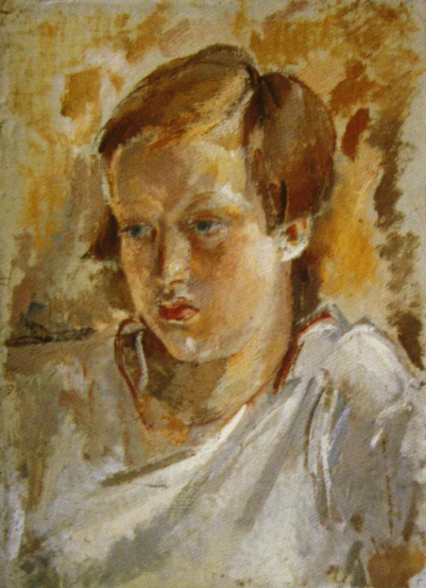 18-Михаил Фёдорович Шемякин - Катя Е И Блаженова - 1935.jpg