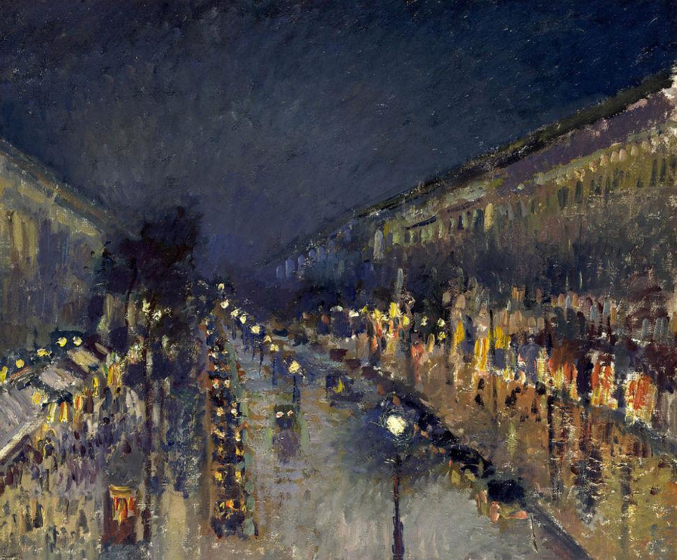 6-Камиль Писсарро - Бульвар Монмартр ночью - 1897.jpg