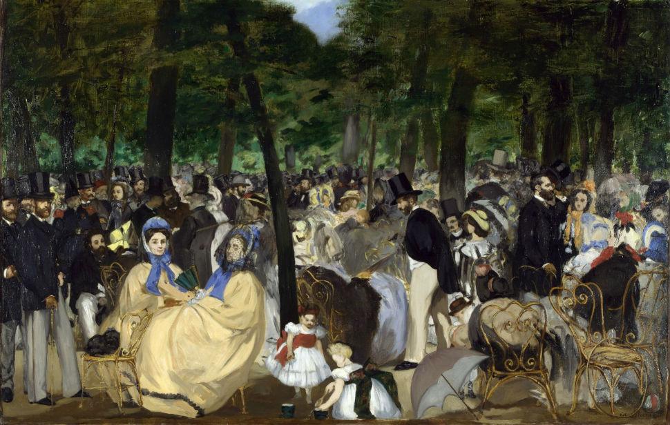 8-Эдуар Мане  - Музыка в саду Тюильри - 1862.jpg