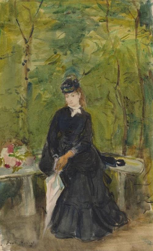 1-Молодая дама сидящая на скамейке - 1864.jpg