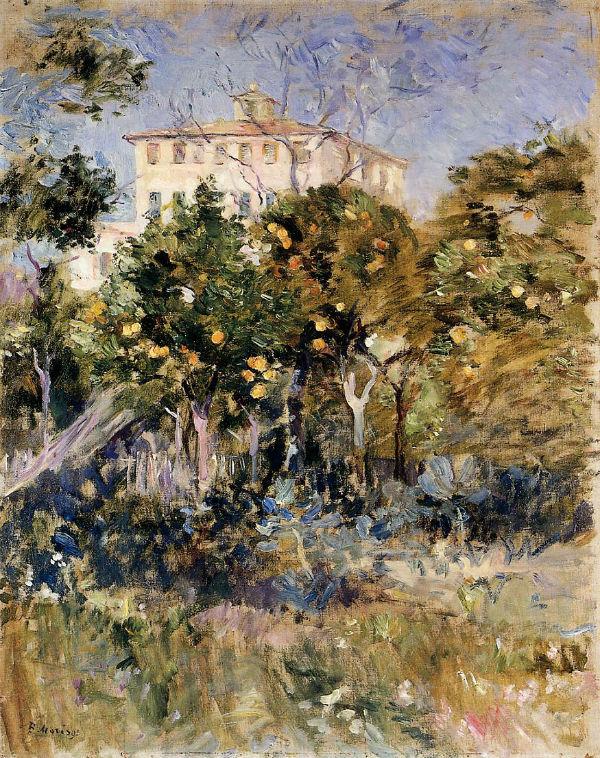 17-Вилла с апельсиновыми деревьями Ницца - 1882.jpg