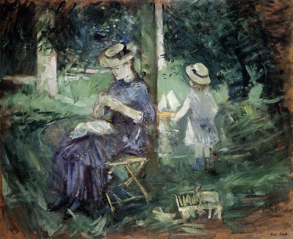 22-Женщина и ребёнок в саду - 1884.jpg