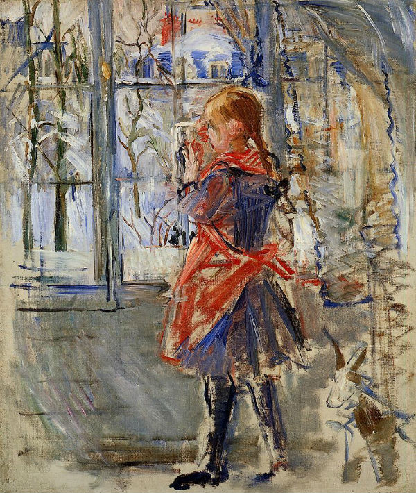27-Девочка в красном переднике - 1886.jpg