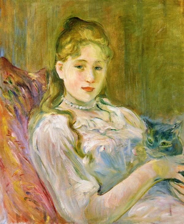 34-Молодая девушка с котом - 1892.jpg