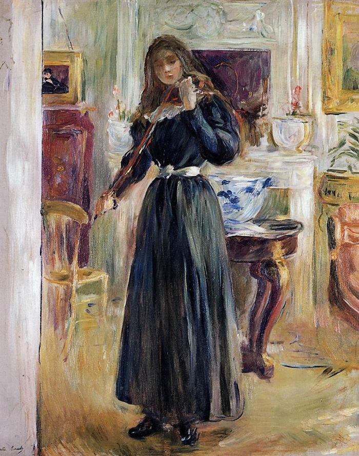 35-Жюли играющая на скрипке - 1893.jpg
