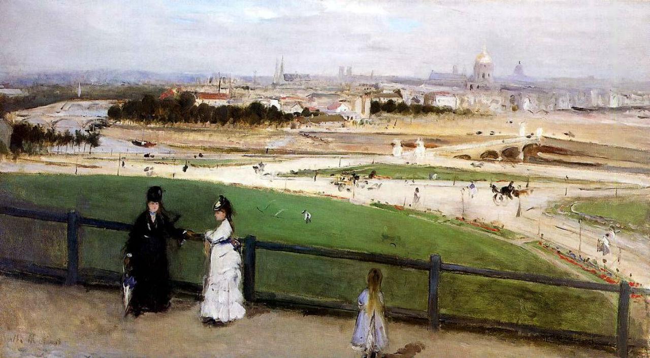 2-Берта Моризо - Вид Парижа с холма Трокадеро - 1872.jpg