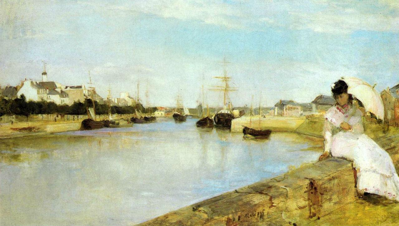 9-Берта Моризо - Порт в Лорьяне - 1869.jpg
