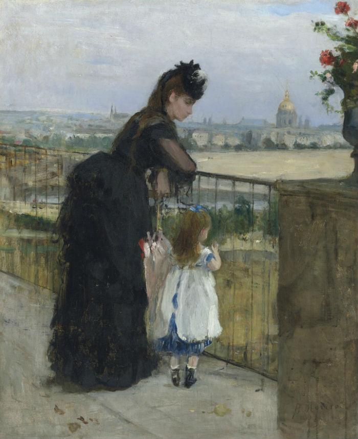 15-Берта Моризо - Женщина с ребенком на балконе - 1872.jpg