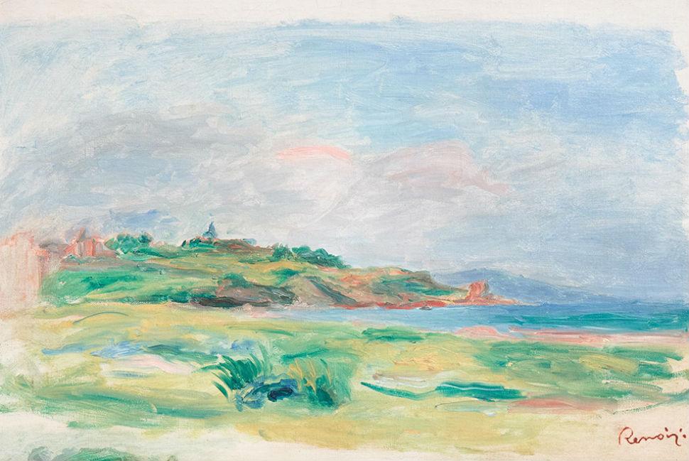 Огюст Ренуар - Залив, море, зелёные скалы.jpg