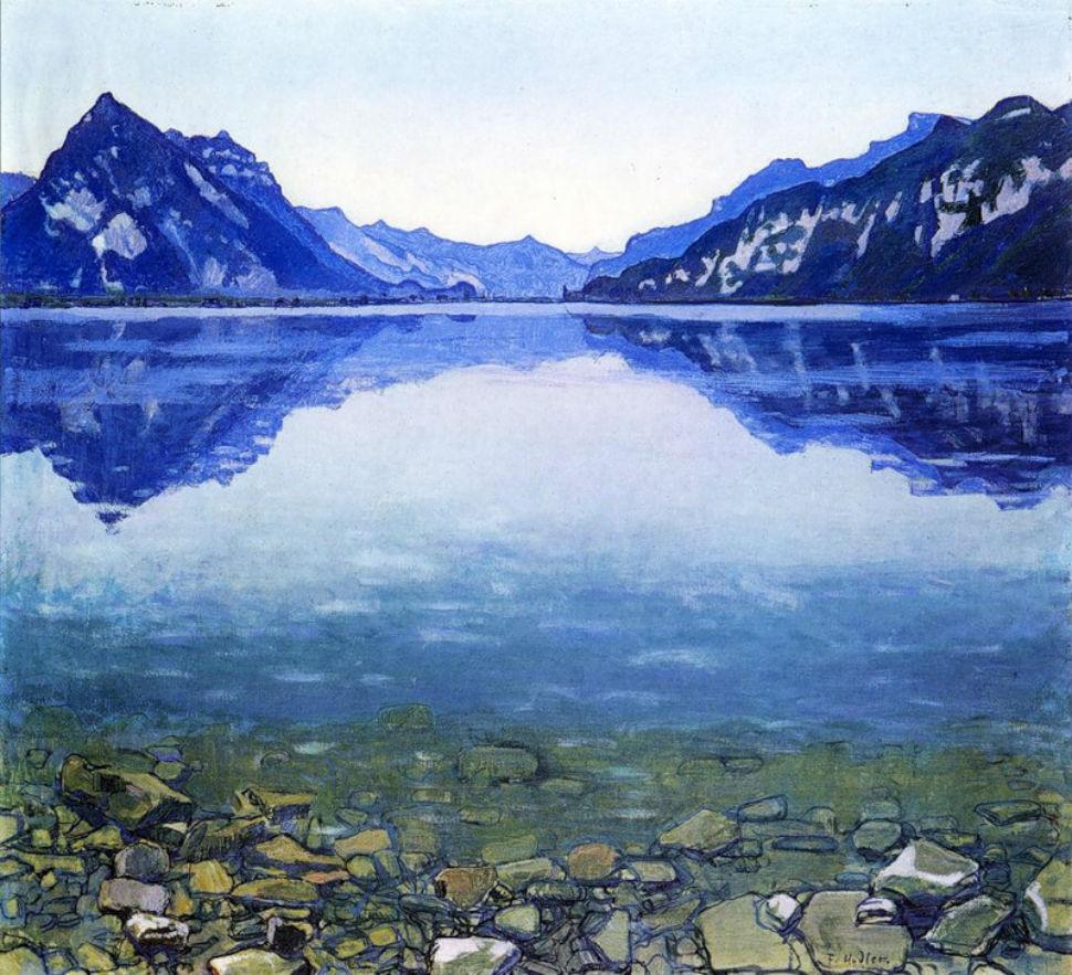 Фердинанд Ходлер - Озеро Тун в в симметричном отражении - 1905.jpg