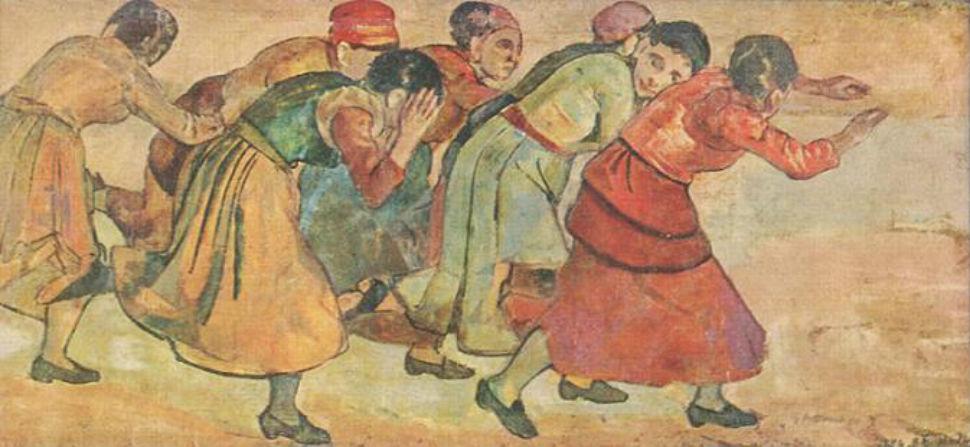 Фердинанд Ходлер - Убегающие женщины - 1895.jpg