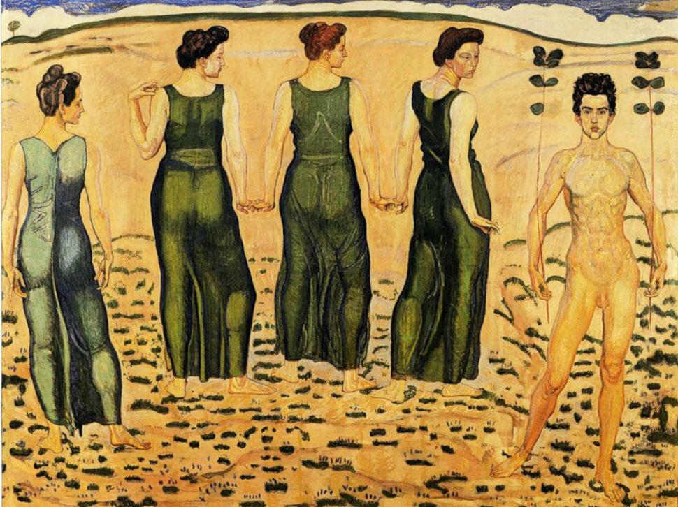 Фердинанд Ходлер - Женщины восхищенные юностью.jpg