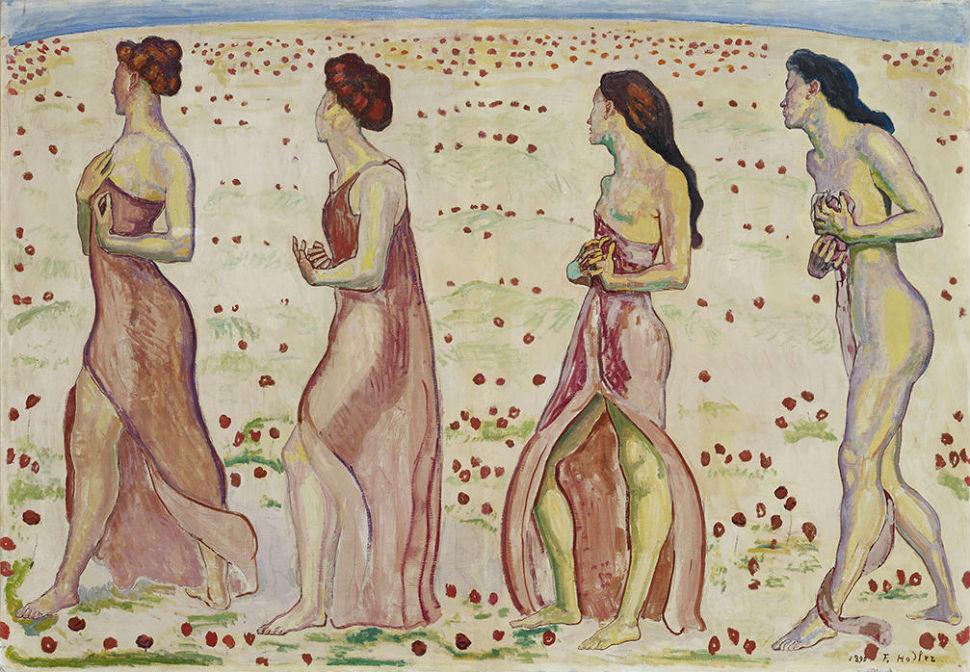Фердинанд Ходлер - женщины в лёгкой одежде.jpg