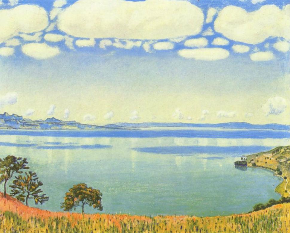 Фердинанд Ходлер - Вид Женевского озера из Шексбре - 1905.jpg