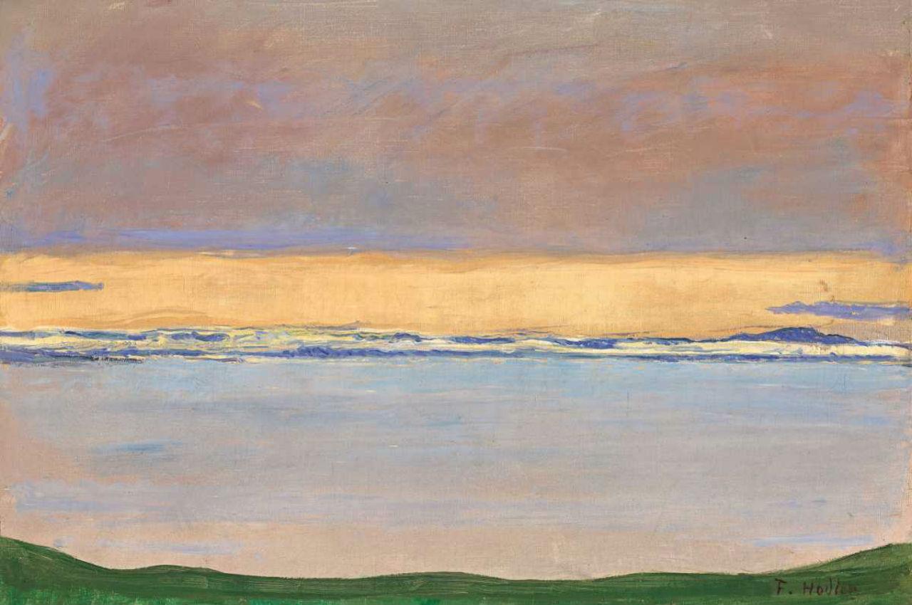 Фердинанд Ходлер - Вид на Женевскаое озеро - 1915.jpg