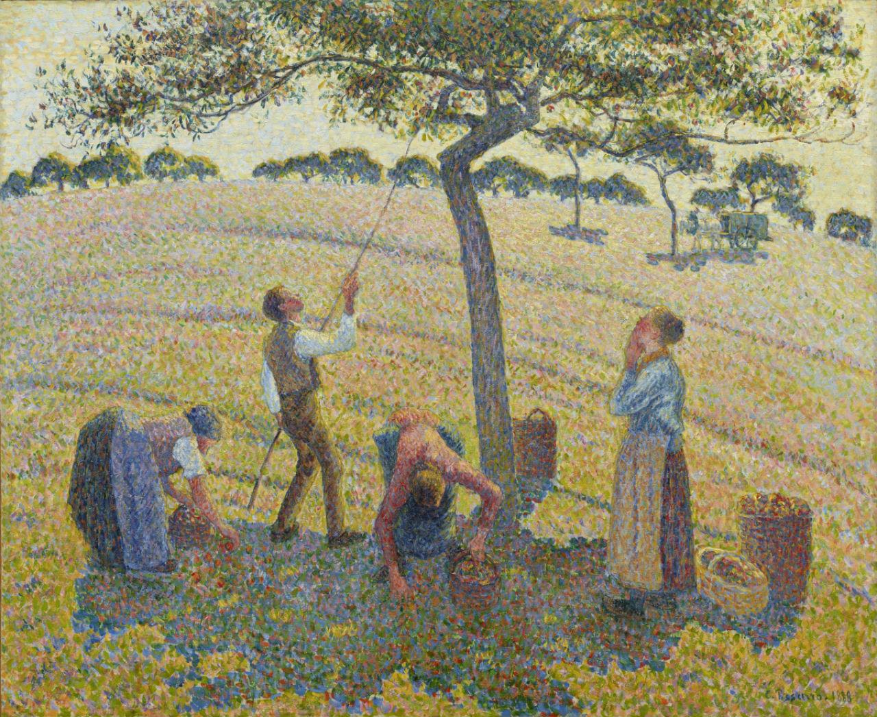 3-Сбор яблок в Эраньи - 1888Камиль Писсарро -.jpg