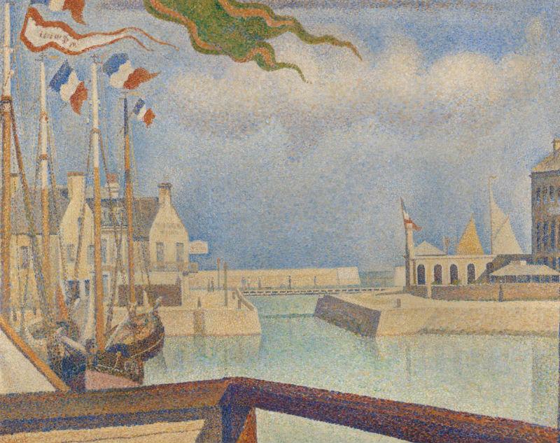 6-Жорж Сёра - Воскресенье в Пор-ан-Бессен - 1888.jpg