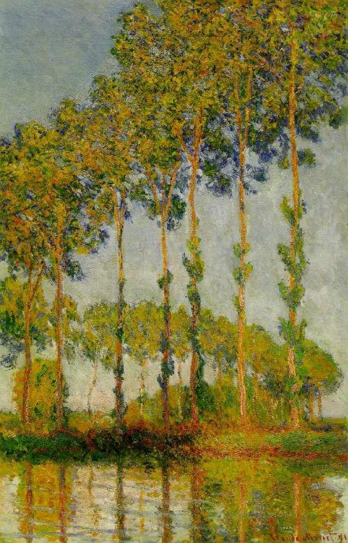7-Клод Моне - Тополя осень - 1891.jpg