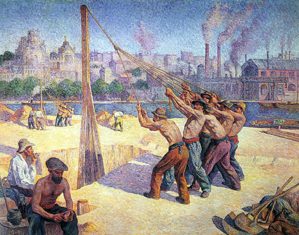 10-Максимилиан Люс - Установщики свай - 1902.jpg