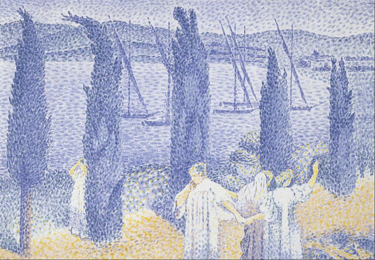 13-Анри Эдмон Кросс - Променад или Кипарисы - 1897.jpg