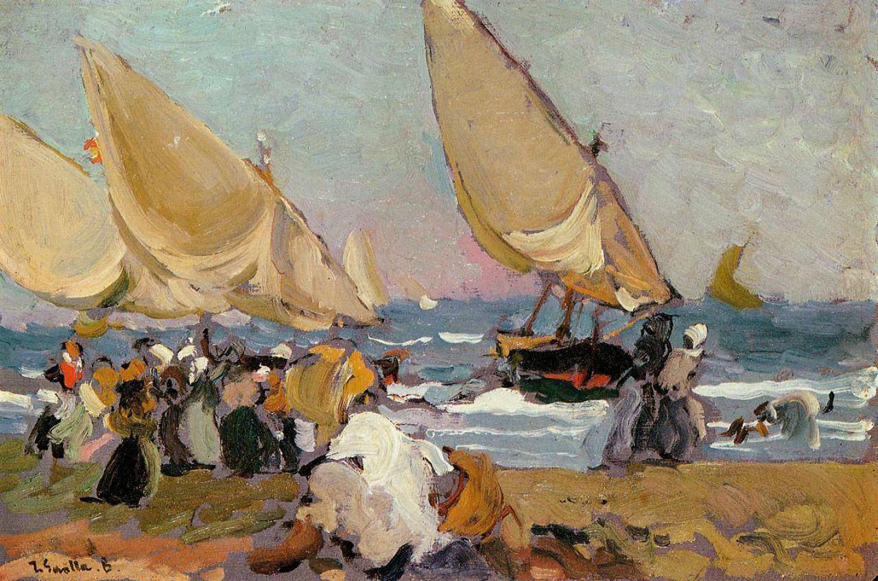 Парусные лодки в ветреный день Валенсия.jpg