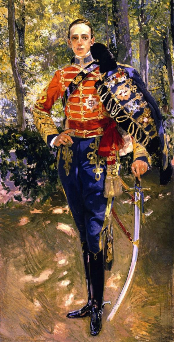 Король Альфонсо XIII в гусарской униформе.jpg