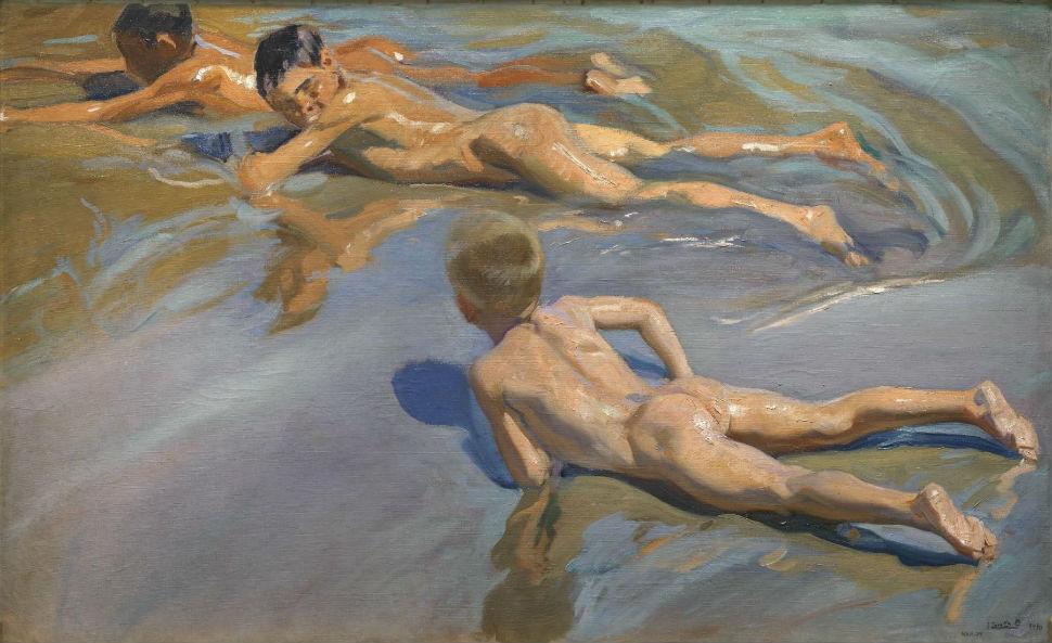 Мальчики на пляже - 1909.jpg