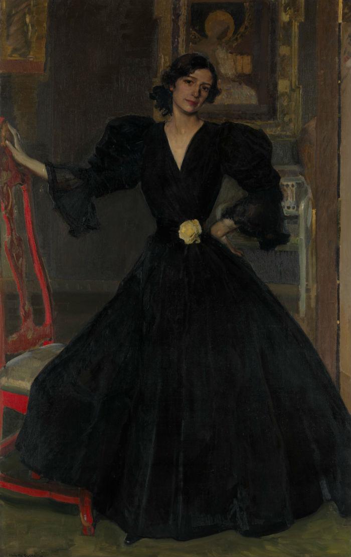 Сеньора де Соролья в чёрном (Клотильда Гарсиа дель Кастильо) - 1906.jpg