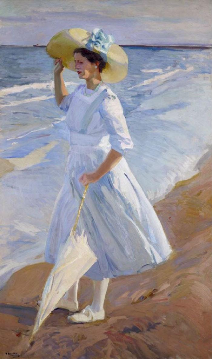 Елена на пляже - 1909.jpg