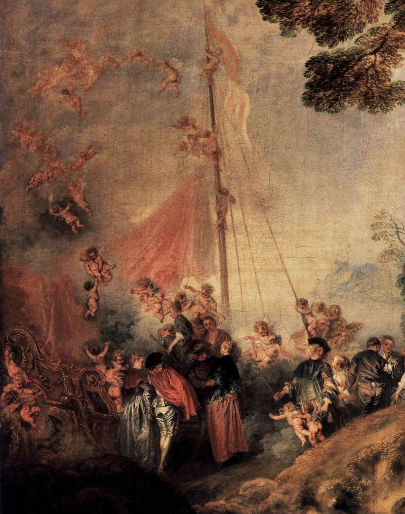 Паломничество на остров Киферу (фрагмент с изображением корабля в берлинском варианте).jpg