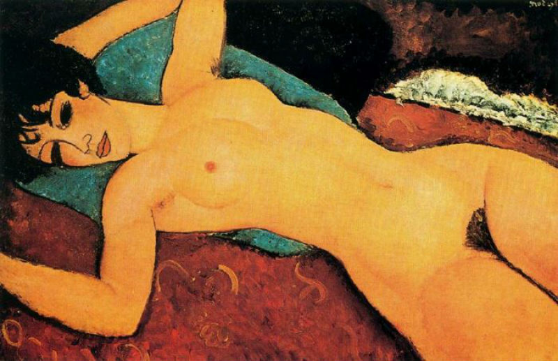 1-Амедео Модильяни - Лежащая обнаженная с раскинутыми руками - 1917.jpg