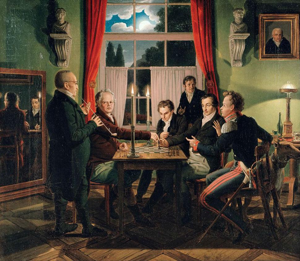 Иоганн Эрдман Хуммель - Партия в шахматы во дворце Фосс в Берлине - 1818-1819.jpg