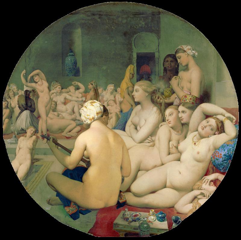 Жан Огюст Доминик Энгр - Турецкие бани - 1862.png