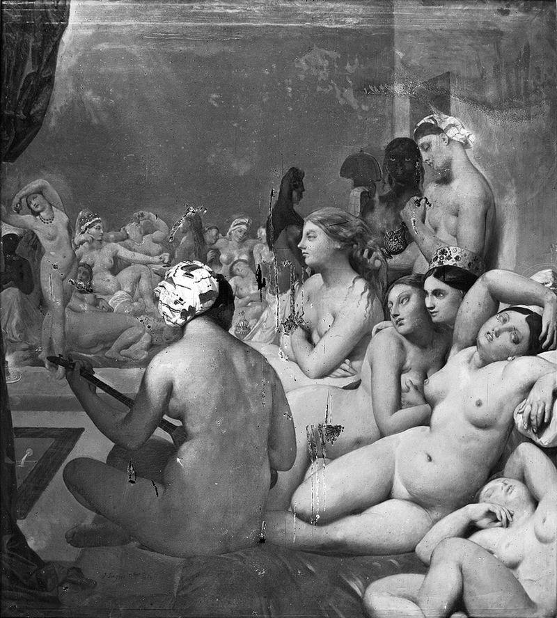 Картина - Турецкая баня в 1859 году - Фотография Шарля Марвиля.jpg