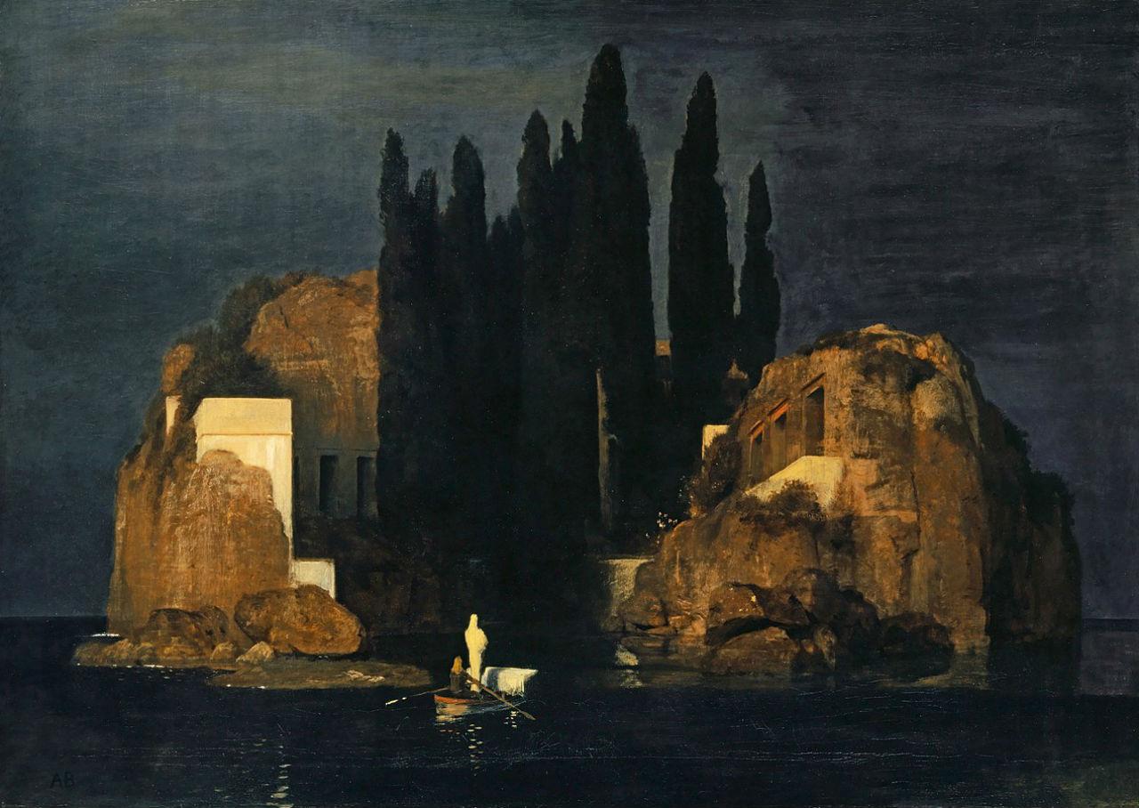 Арнольд Бёклин - Остров мёртвых (первая версия) - май 1880 - Художественный музей Базель.jpg