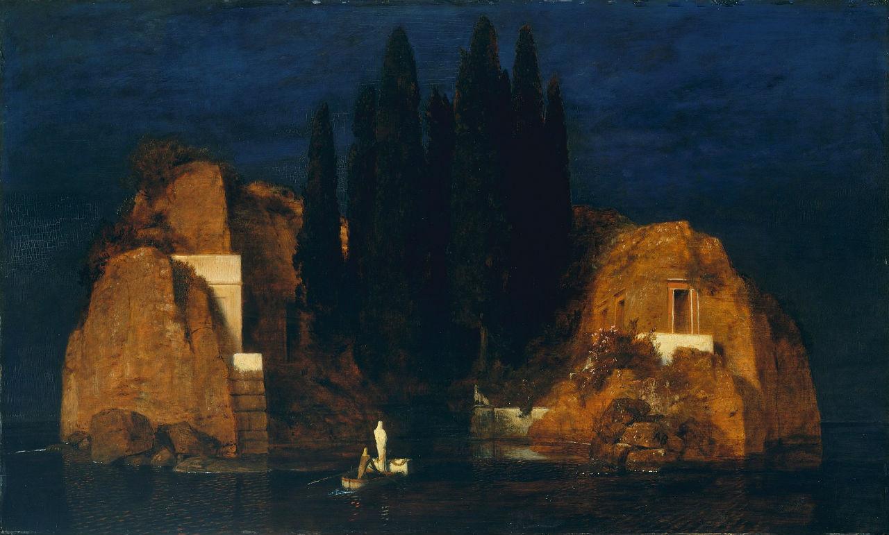 Арнольд Бёклин - Остров мёртвых (вторая версия) - июнь 1880 - Метрополитен-музей Нью-Йорк.jpg