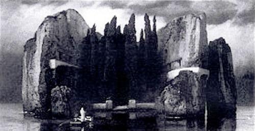 Арнольд Бёклин - Остров мёртвых (четвёртая версия) - уничтожена в Роттердаме во время Второй мировой войны.jpg