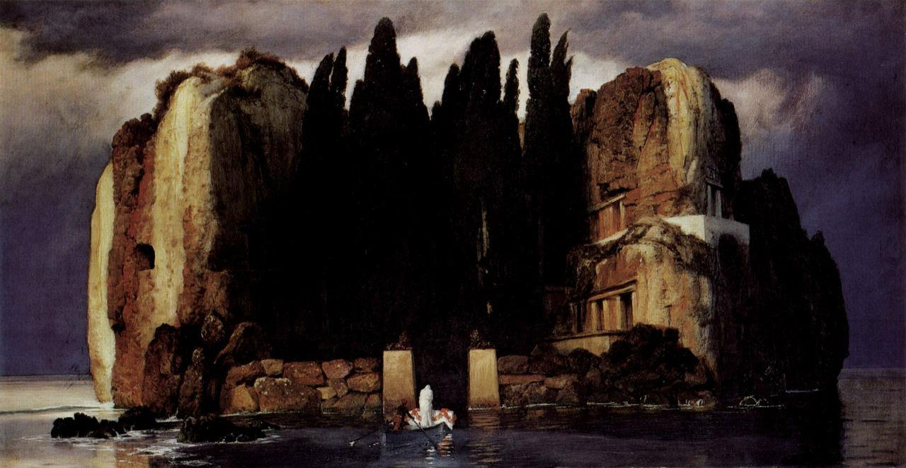 Арнольд Бёклин - Остров мёртвых (пятая версия) - Музей изобразительных искусств Лейпциг.jpg
