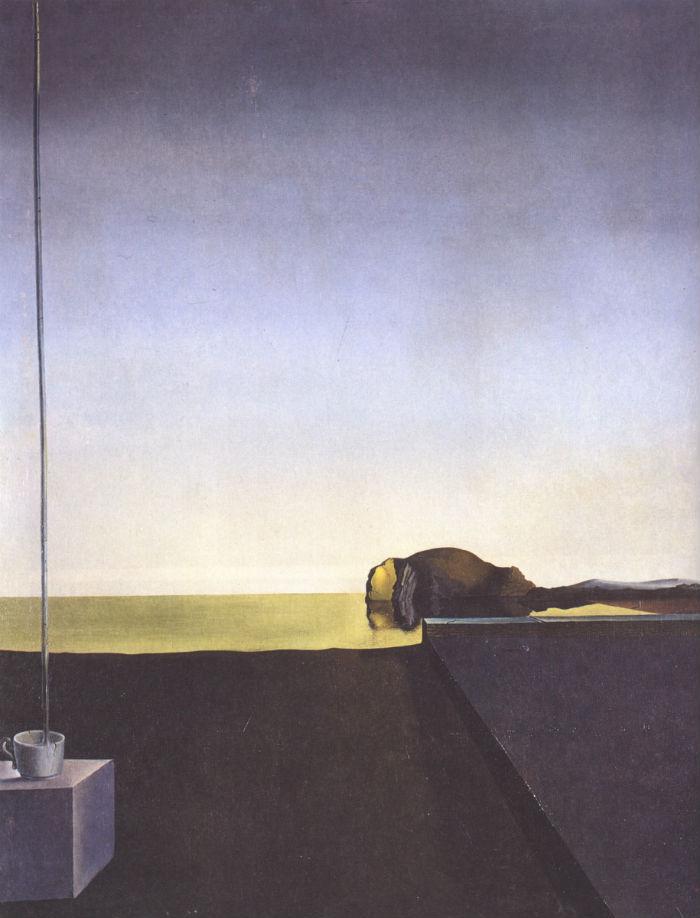 Сальвадор Дали - Истинная картина Острова мертвых Арнольда Беклина Час Ангела - 1932.jpg