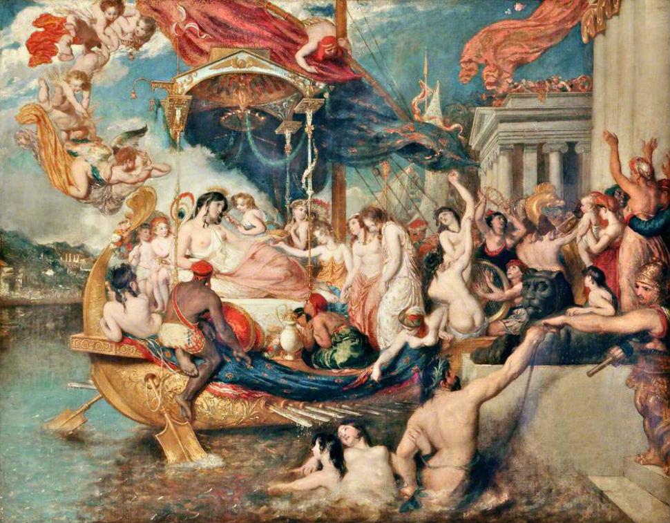Уильям Этти - Прибытие Клеопатры в Киликию - 1821.jpg