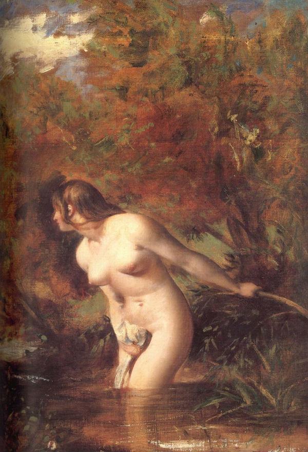 Уильям Этти - Мусидора купальщица встревоженная дуновением ветра - 1846.jpg