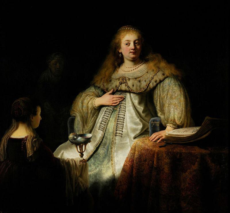Рембрандт Харменс ван Рейн - Софонисба принимает чашу с ядом - 1634.jpg