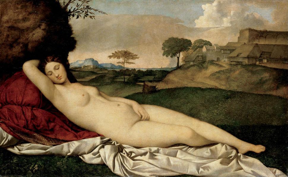 Джорджоне - Спящая Венера.jpg